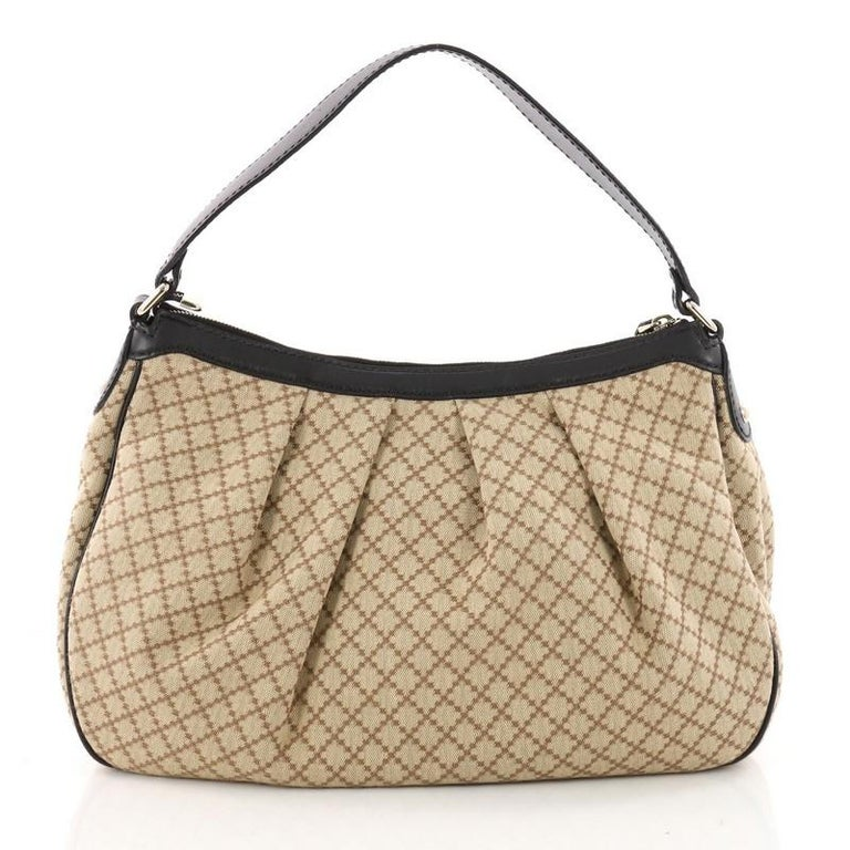 871afd3601a Gucci Sukey Hobo Diamante Canvas Medium In Good Condition For Sale In New  York