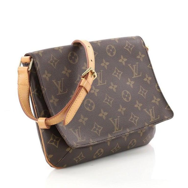 d92056b97200 Black Louis Vuitton Musette Tango Handbag Monogram Canvas For Sale
