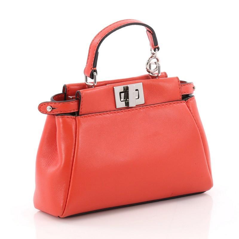 49da6d2db95e ... coupon code red fendi peekaboo handbag leather micro for sale 8b483  96731