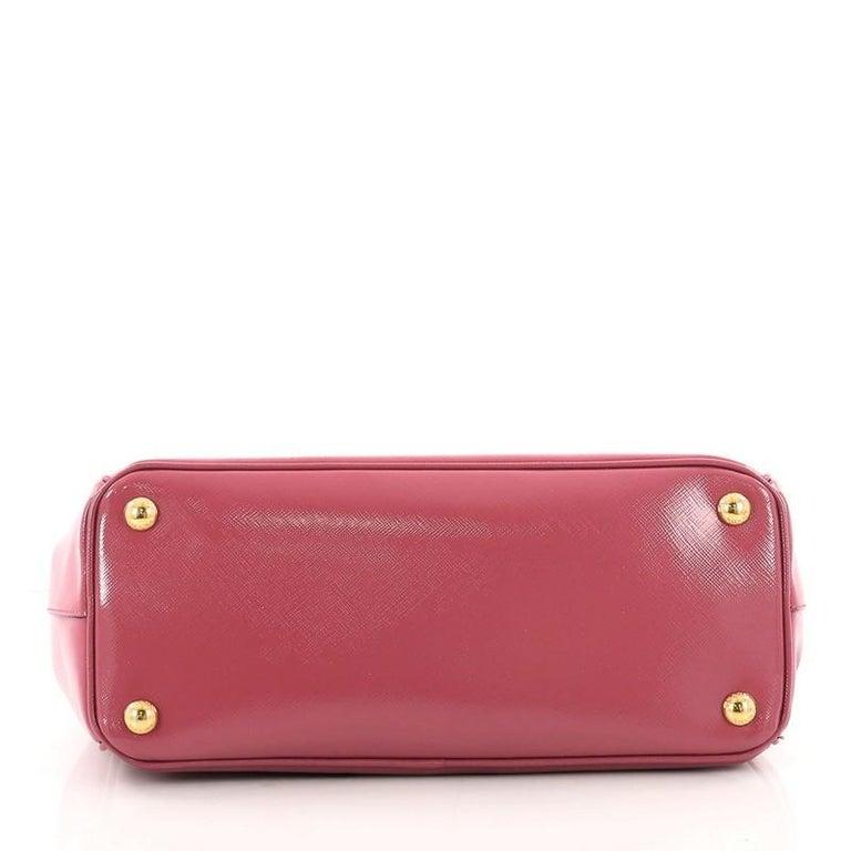 b5dc5b6c39fe8f Women's or Men's Prada Double Zip Lux Tote Vernice Saffiano Leather Mini  For Sale