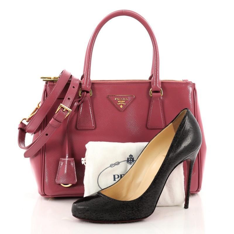4c56f21ec9580a ... australia this authentic prada double zip lux tote vernice saffiano  leather mini is the perfect bag ...