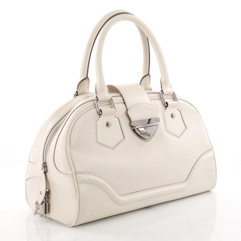 Beige Louis Vuitton Montaigne Bowling Bag Epi Leather GM For Sale ae093491d827b