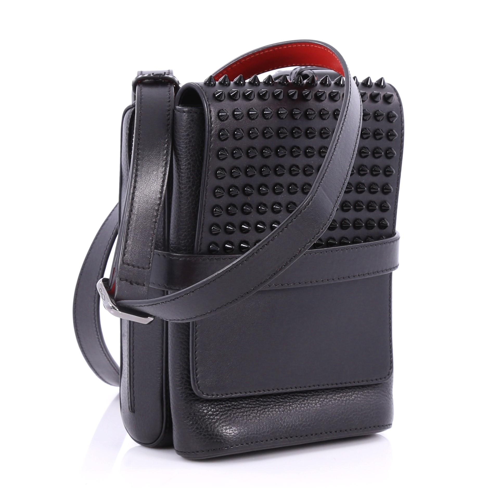 4989aff8d97 Christian Louboutin Benech Reporter Bag Spiked Leather