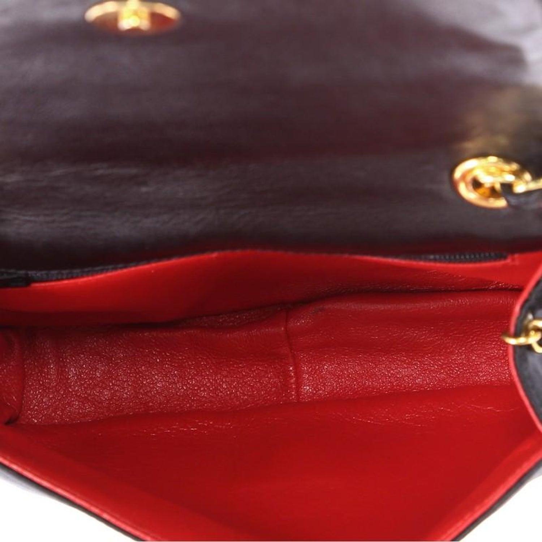 566105510873 Chanel Vintage CC Stitch Flap Bag Satin Mini at 1stdibs