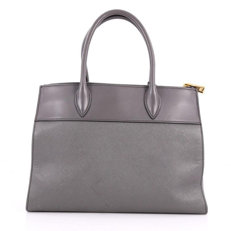 1e4e472fc5b1db Prada Paradigme Handbag Saffiano Leather Medium In Good Condition For Sale  In New York, NY