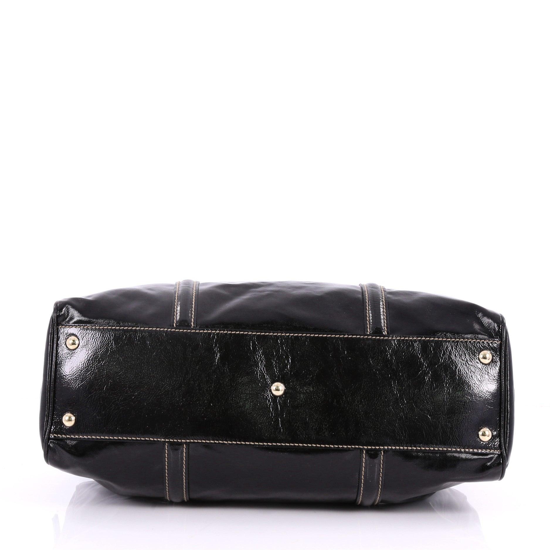 5ef1bfe81577 Gucci Britt Web Boston Duffle Bag Dialux Coated Canvas Medium at 1stdibs