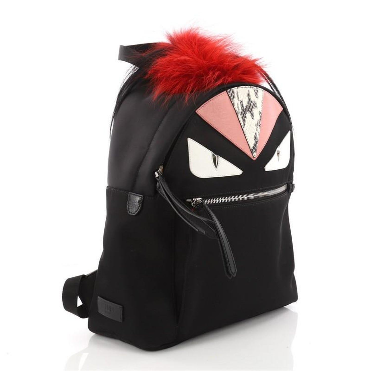 Fendi Monster Backpack Nylon with Leather and Fur Large at 1stdibs c71d47efac4e1