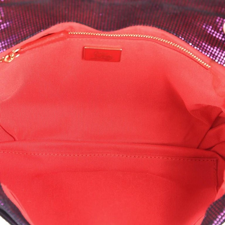 Christian Louboutin Sweet Charity Crossbody Bag Glitter Leather Small  For Sale 1