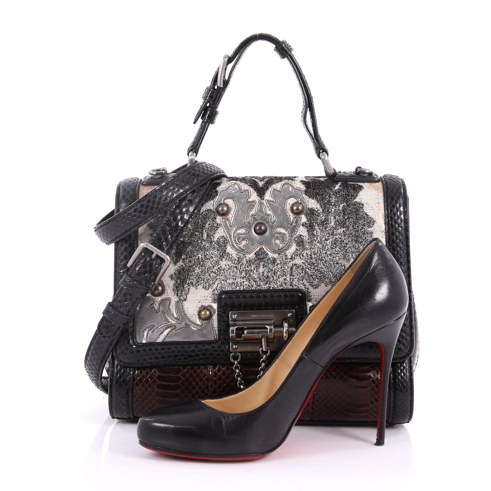 b342997b99 Dolce and Gabbana Monica Handbag Brocade and Python Medium at 1stdibs
