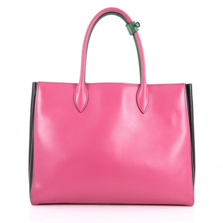 941ac31c6334 Prada Soft Bibliotheque Handbag City Calfskin Large In Good Condition For  Sale In New York,
