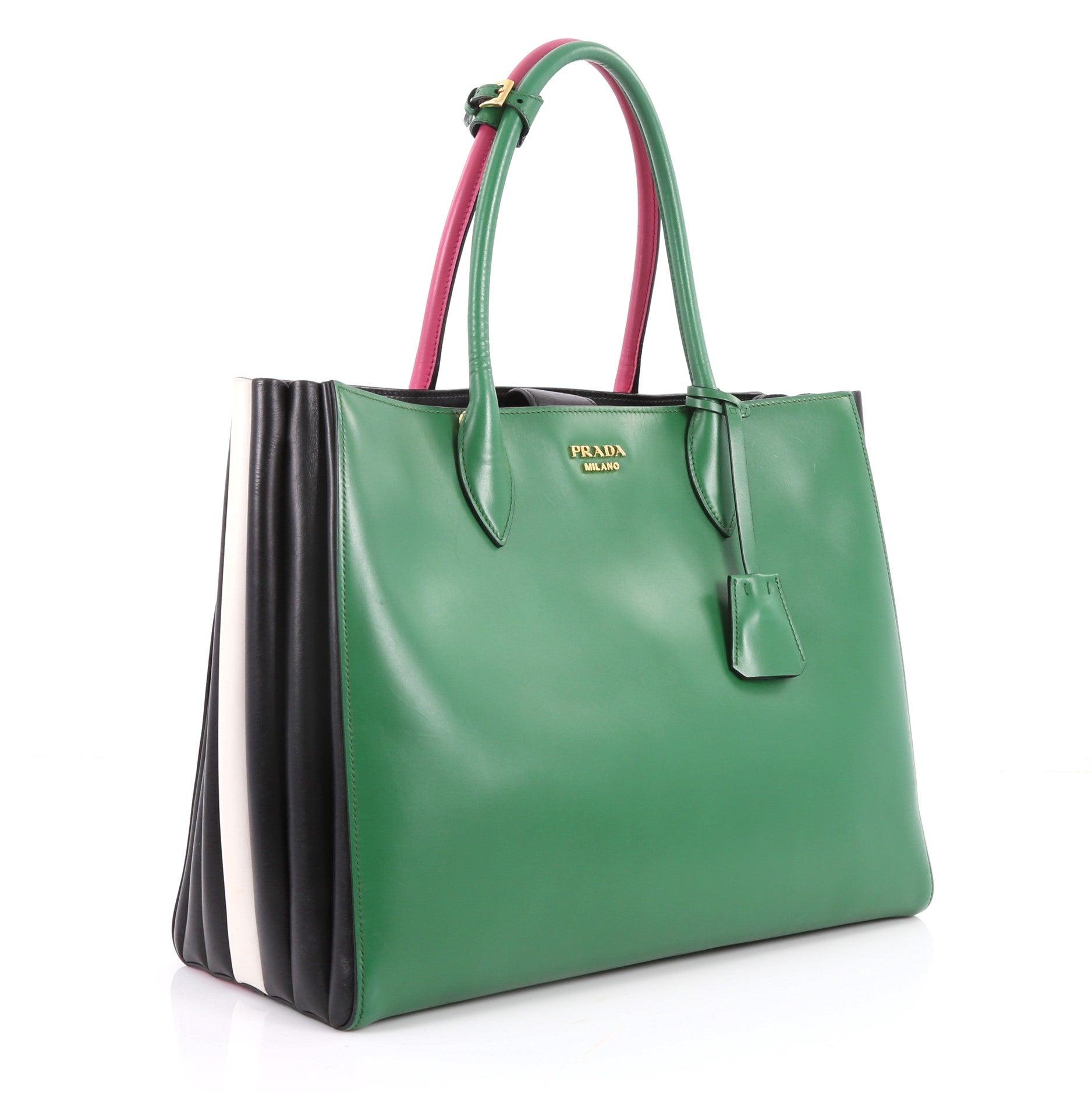 36956768ecce Prada Soft Bibliotheque Handbag City Calfskin Large at 1stdibs