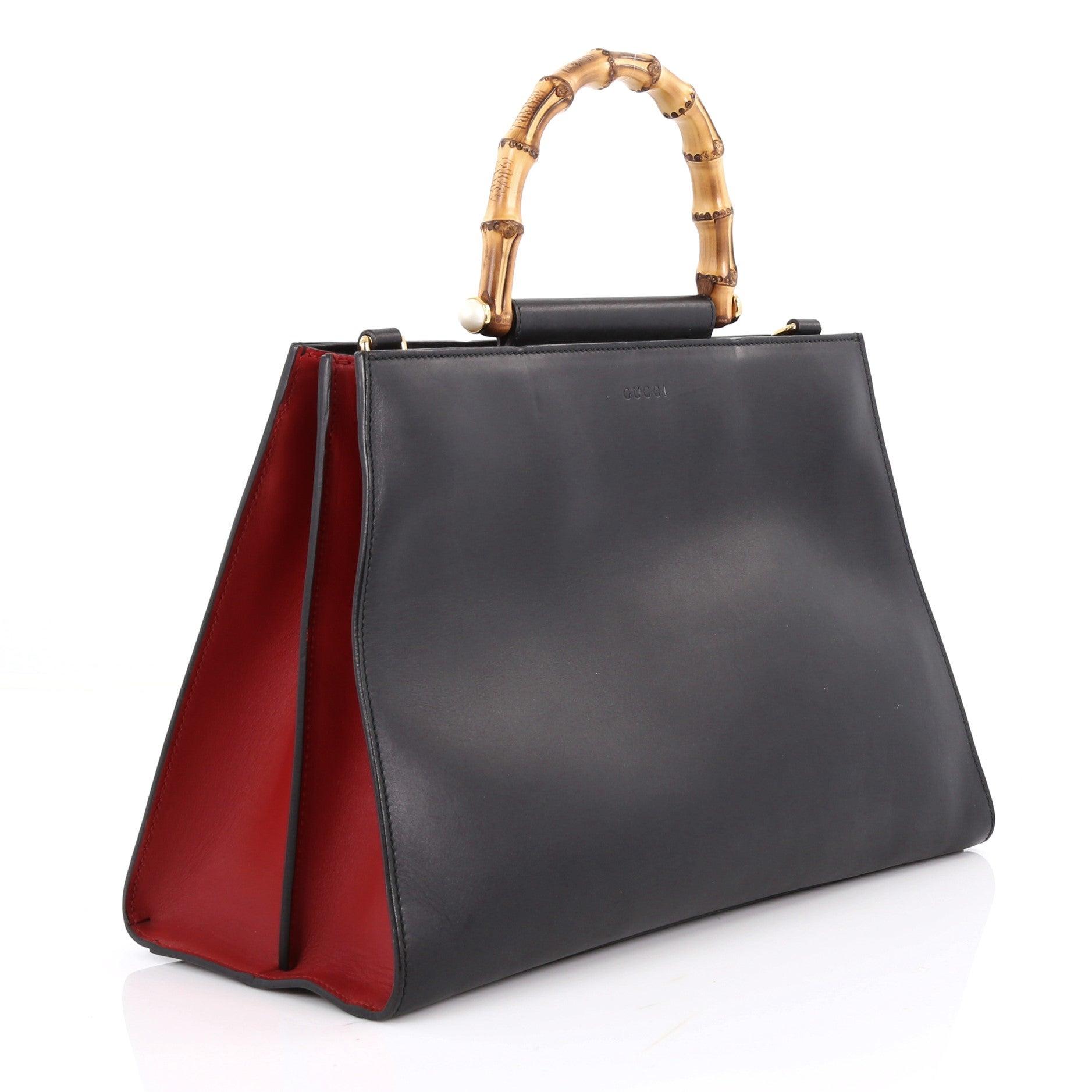 d63faf59cbc Gucci Nymphaea Top Handle Bag Leather Medium at 1stdibs