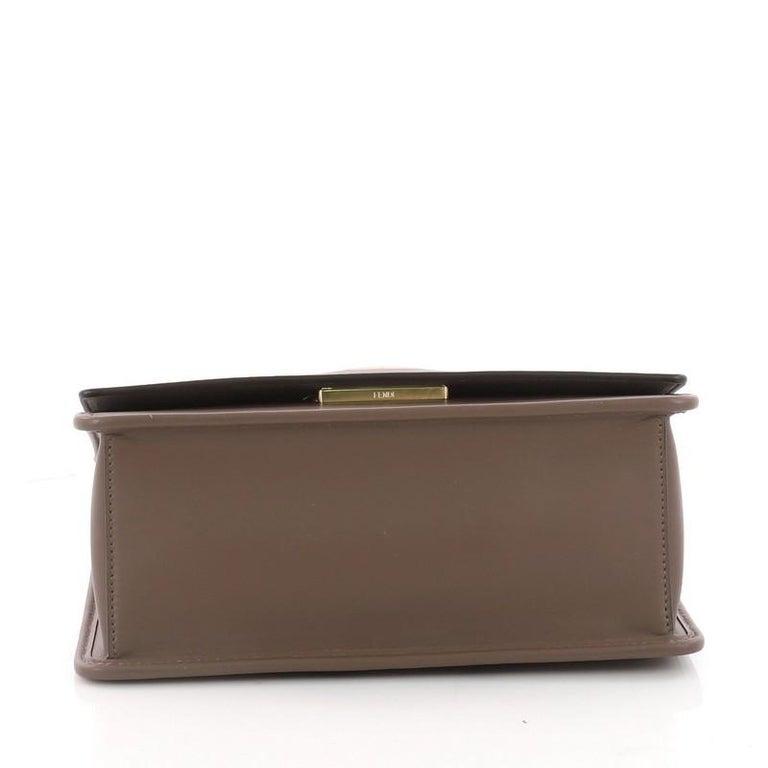 Women's or Men's Fendi Kan I F Shoulder Bag Leather Medium For Sale