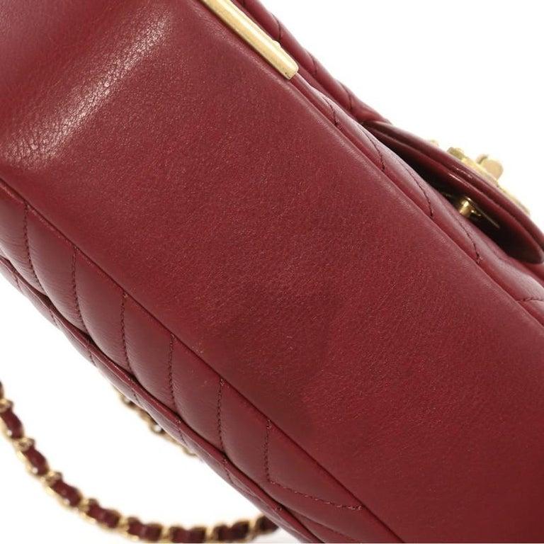b7d409097ccf Chanel Rock the Corner Flap Bag Chevron Leather Medium For Sale 2