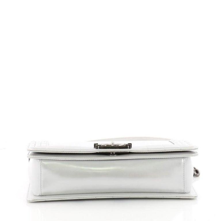 e6db385b17c62b Women's or Men's Chanel Reverso Boy Flap Bag Glazed Iridescent Calfskin Old  Medium For Sale