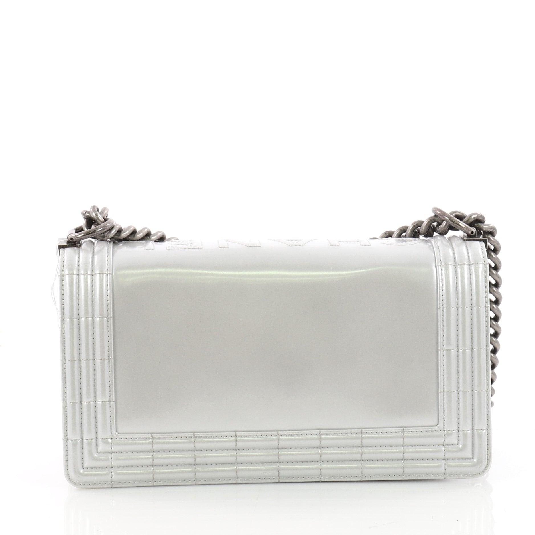 60cab26e1dd2b5 Chanel Reverso Boy Flap Bag Glazed Iridescent Calfskin Old Medium at 1stdibs