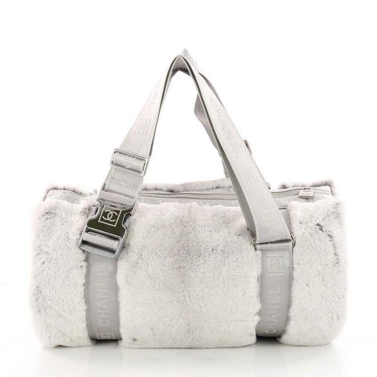 a4f6006915 Chanel Sport Line Buckle Shoulder Bag Fur Medium at 1stdibs