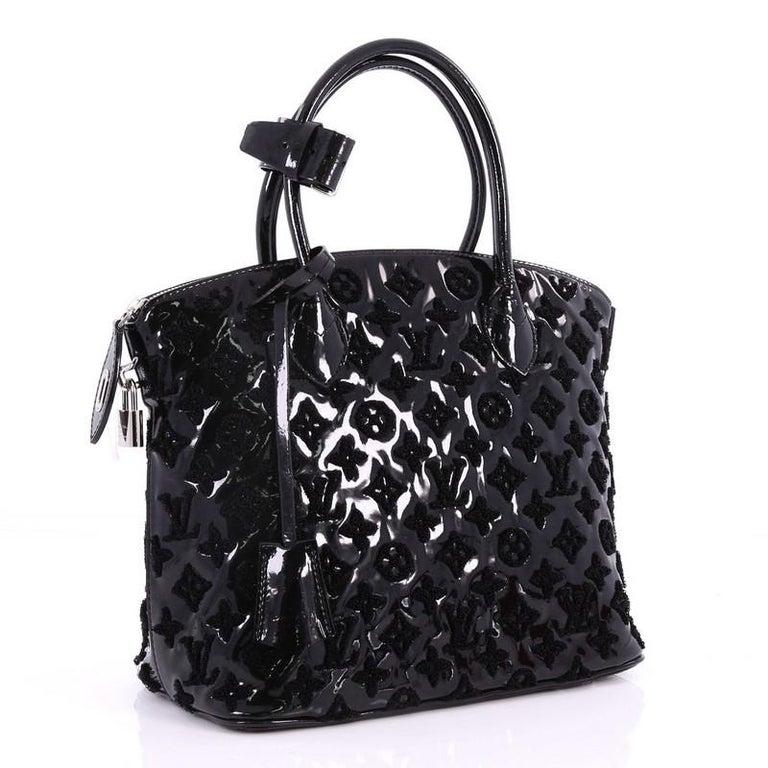 Black Louis Vuitton Fascination Lockit Handbag Patent Lambskin For Sale af23282be69a3