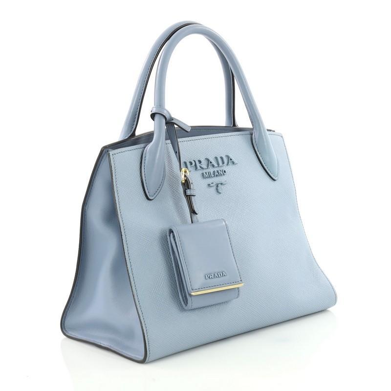 6200460e54b6 ... buy blue prada monochrome tote saffiano leather with city calfskin small  for sale efb41 03ccd