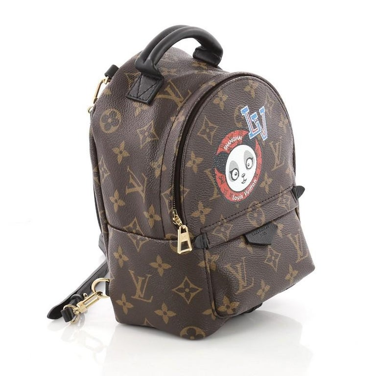 fe7f4583b Black Louis Vuitton Palm Springs Backpack Limited Edition Monogram Canvas  Mini For Sale