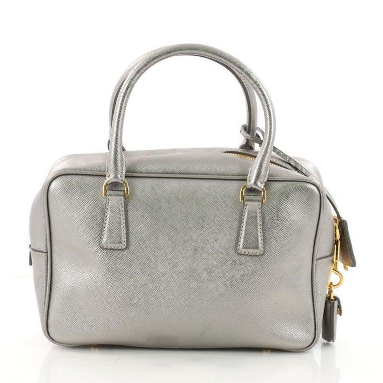 69e2fad62e4857 Prada Convertible Bauletto Bag Saffiano Leather Small In Good Condition For  Sale In New York,