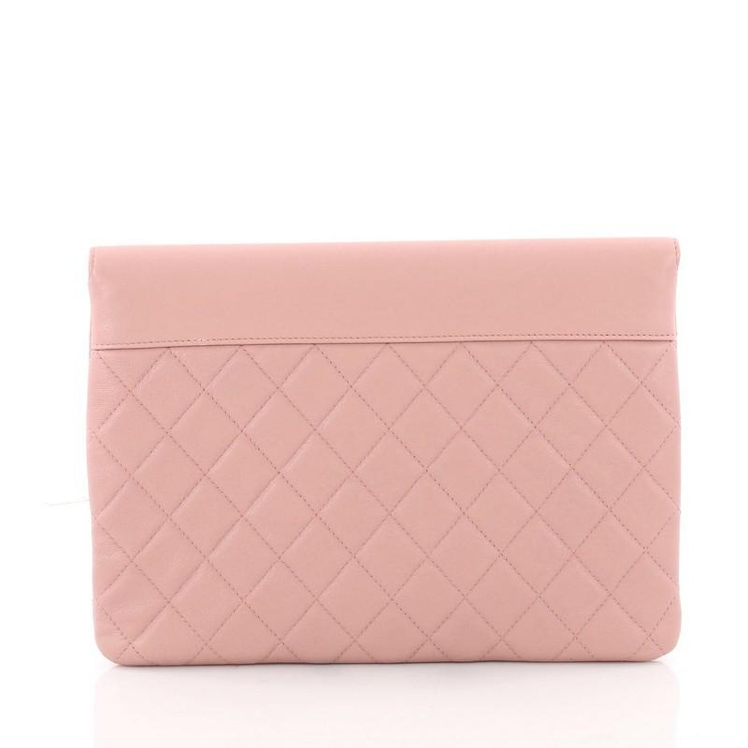 00a31541807a Chanel CC Box Flap Pouch Quilted Goatskin at 1stdibs