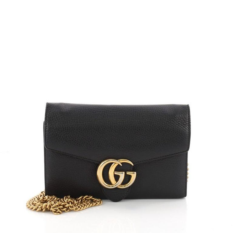 e34dd95e8a38 Gucci GG Marmont Chain Wallet Leather Mini at 1stdibs