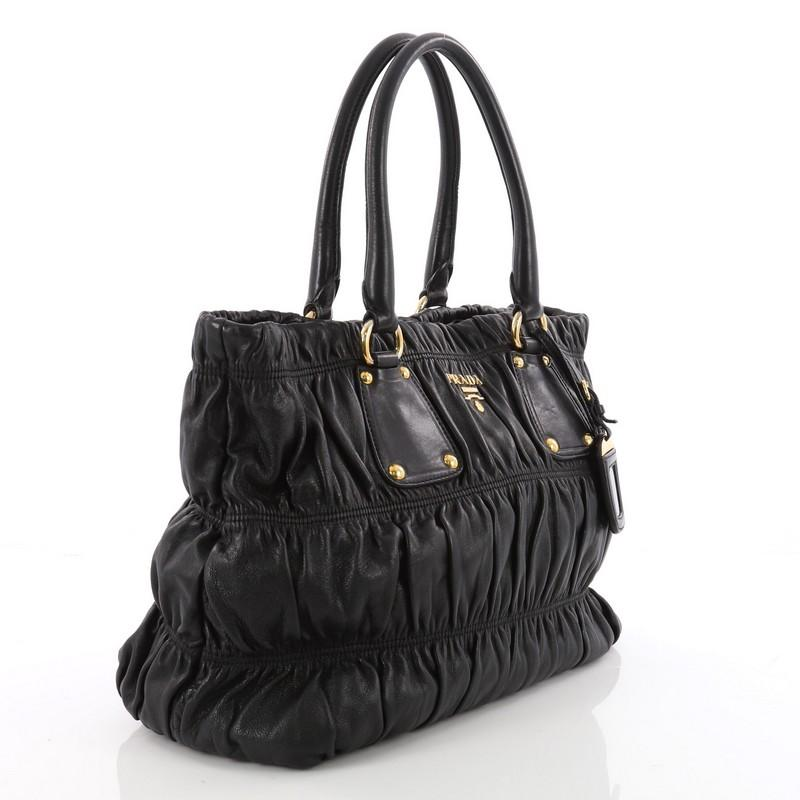 3b99e09f7d06 real prada bn1792 black vela nylon tessuto gaufre open top tote 31026 f63be  64399; discount code for get prada gaufre convertible tote nappa leather  medium ...
