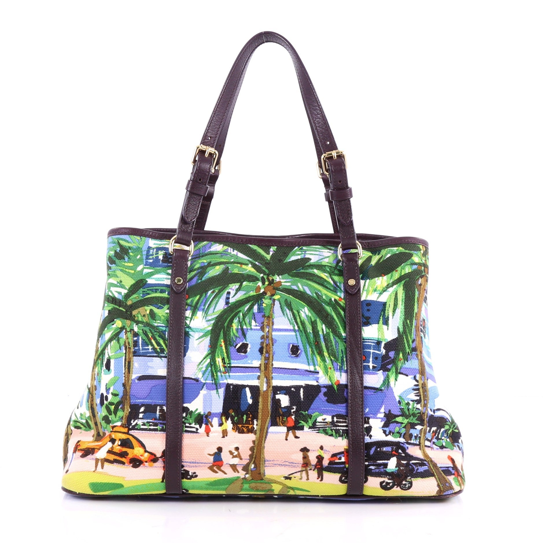 f89dd03acba3 Louis Vuitton Ailleurs Cabas Limited Edition Printed Canvas PM at 1stdibs