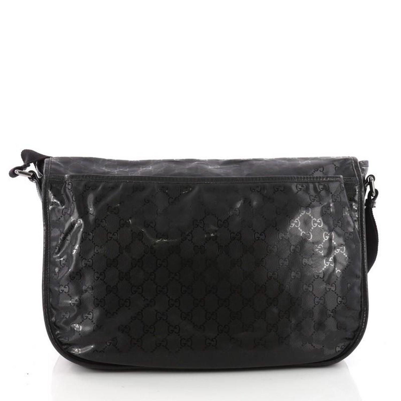 637b1dc58d6 Gucci Messenger Buckle Bag GG Imprime Large at 1stdibs