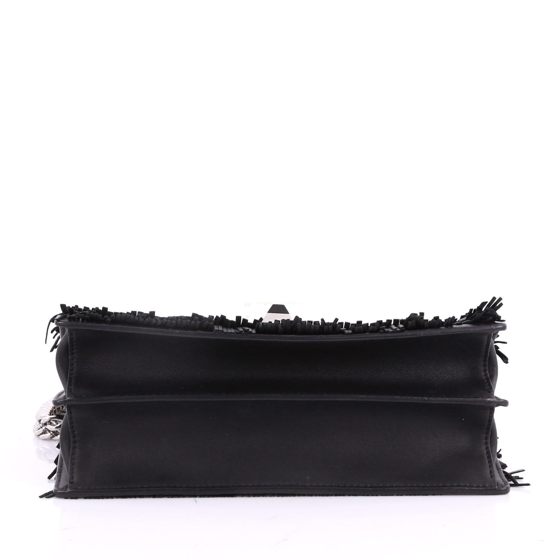 9a0878674b9b Fendi Monster Kan I Handbag Fringe Leather Medium at 1stdibs