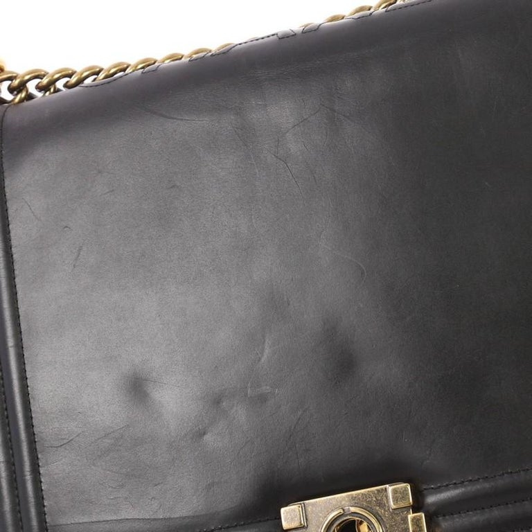 75c98929765cc1 Chanel Reverso Boy Flap Bag Glazed Calfskin Large For Sale 2
