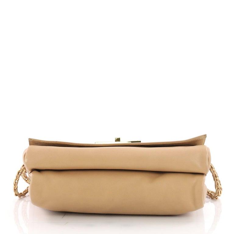 Women's or Men's Fendi Claudia Shoulder Bag Pequin Embossed Leather Large For Sale