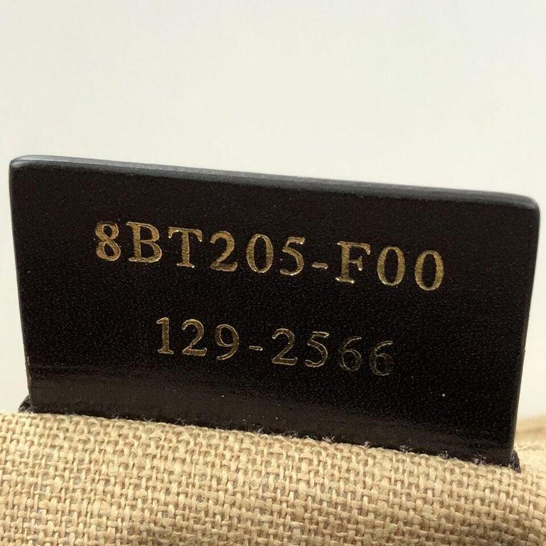 Fendi Claudia Shoulder Bag Pequin Embossed Leather Large For Sale 2