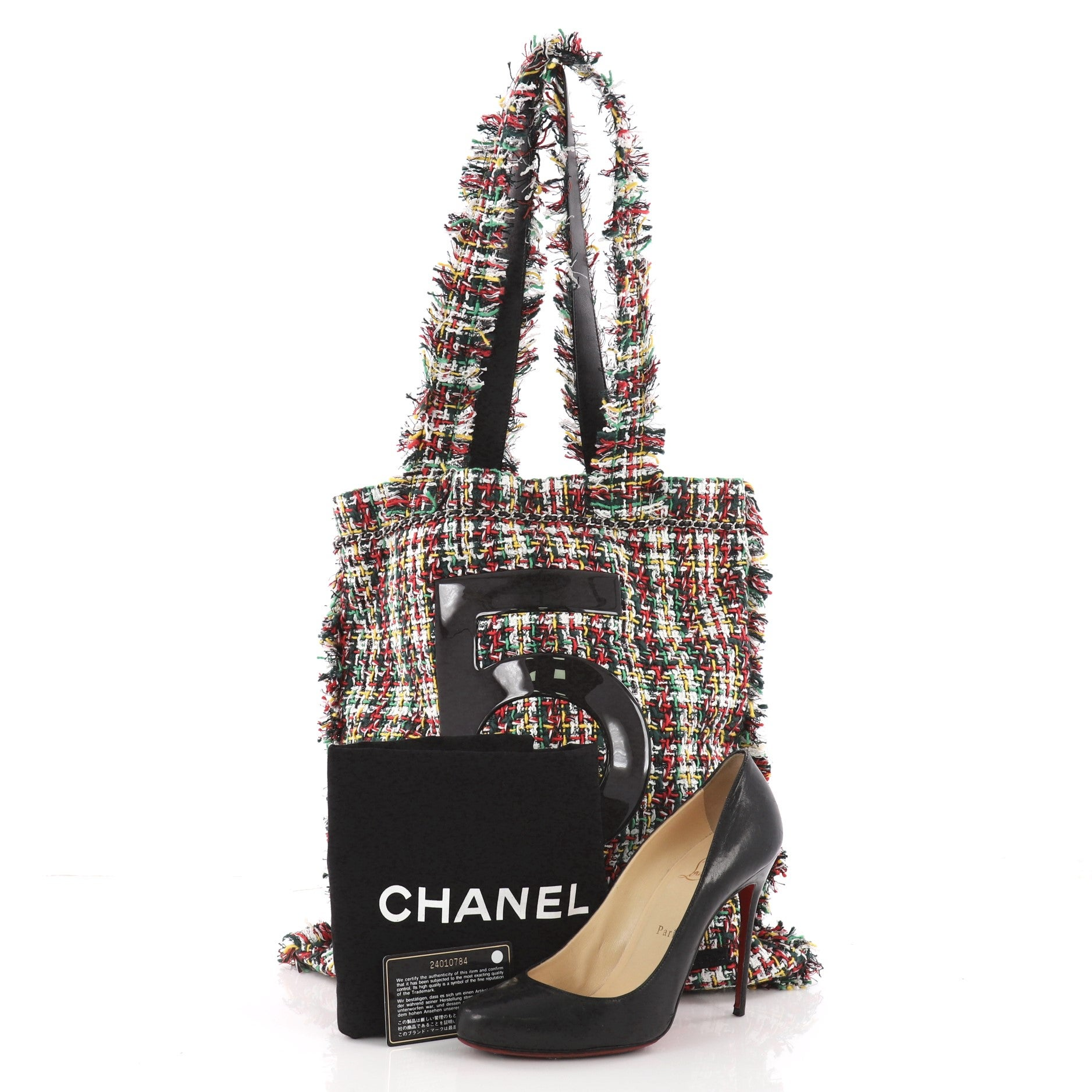 efe0b50f431a Chanel No. 5 Shopping Tote Tweed Large at 1stdibs