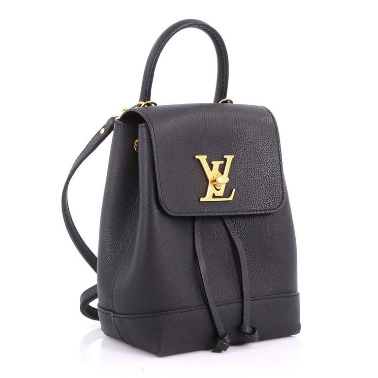 ee849bcd26f2 Black Louis Vuitton Lockme Backpack Leather Mini For Sale