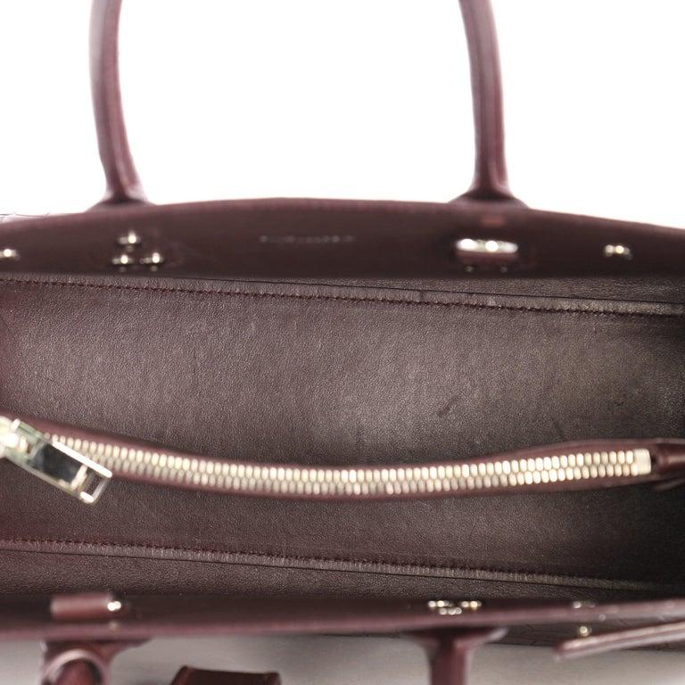 47a96696288 Saint Laurent Sac de Jour NM Handbag Crocodile Embossed Leather Baby For  Sale 1