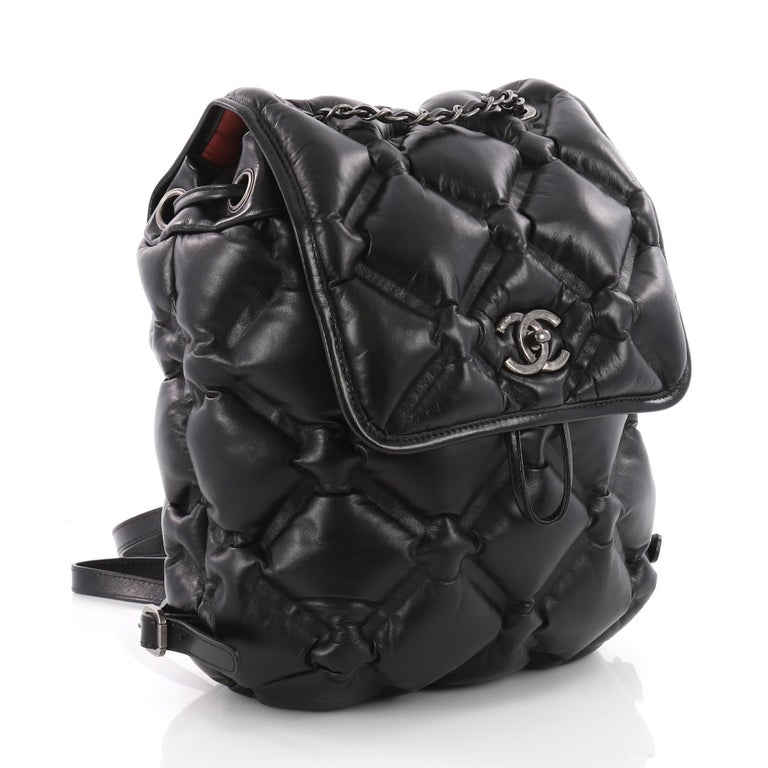 3aa4be3ec33a59 Chanel Chesterfield Backpack Quilted Calfskin Medium In Excellent Condition  For Sale In New York, NY