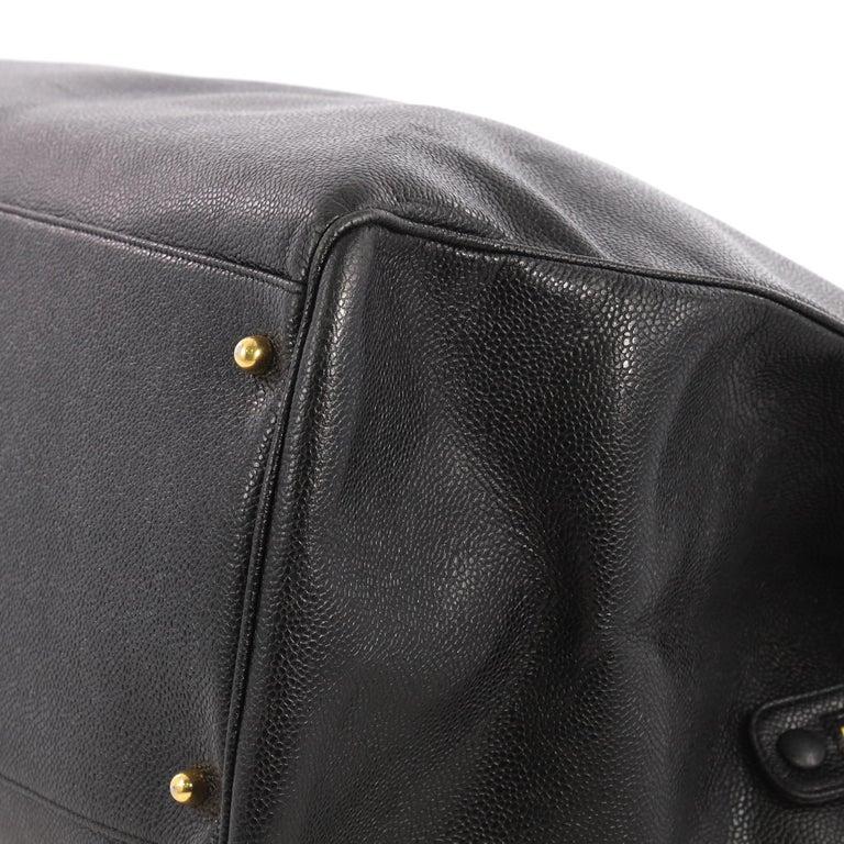 6c29ecef41969f Chanel Vintage Supermodel Weekender Bag Caviar Large For Sale 1