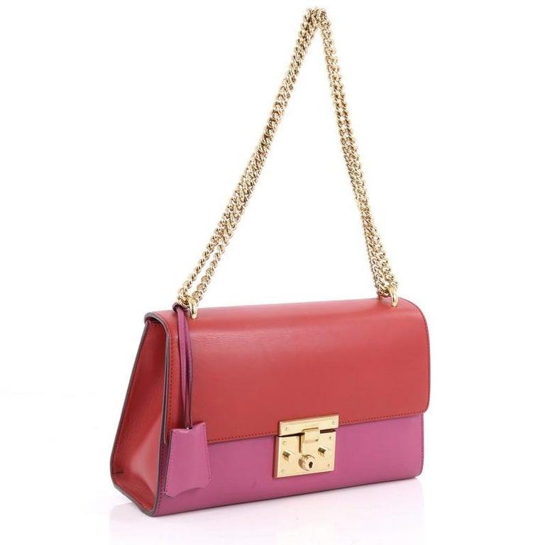442207aef23f0 Pink Gucci Padlock Shoulder Bag Leather Medium For Sale