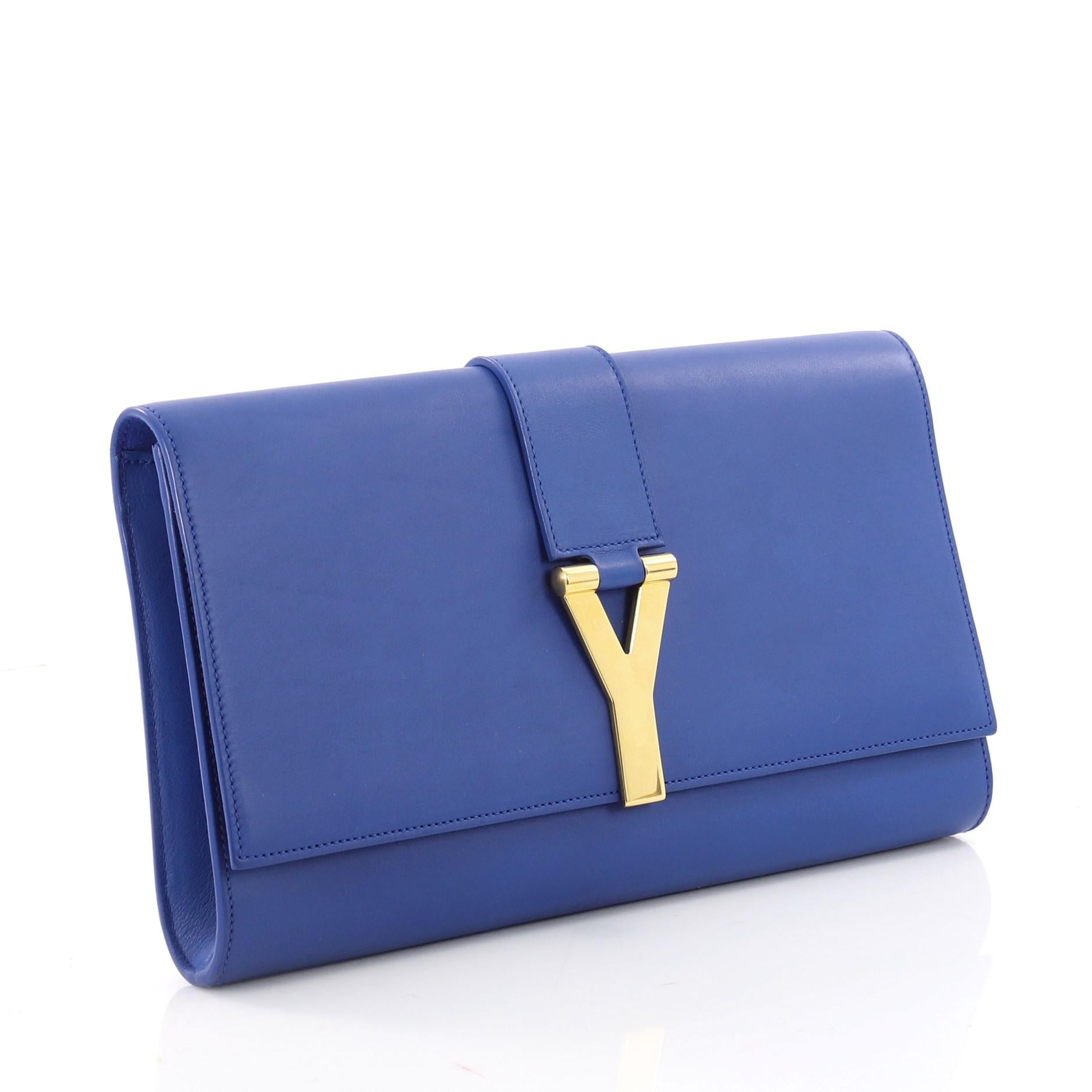 81256b691010 Blue saint laurent clutch leather for sale jpg 768x768 Chyc clutch