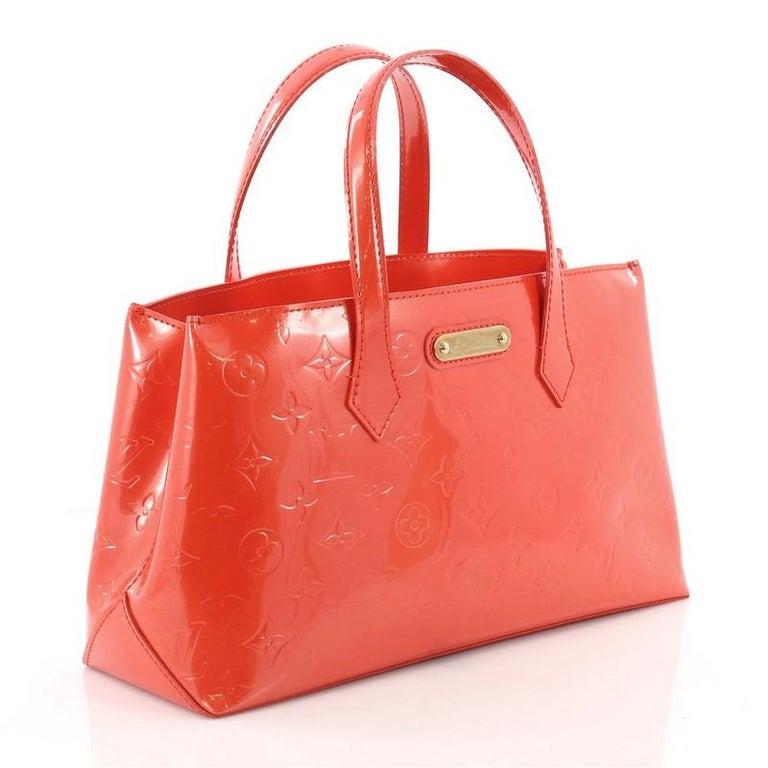 8afede6828b3 Red Louis Vuitton Wilshire Handbag Monogram Vernis PM For Sale