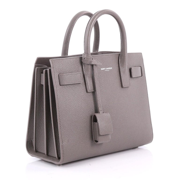 Gray Saint Lau Sac De Jour Nm Handbag Leather Nano For