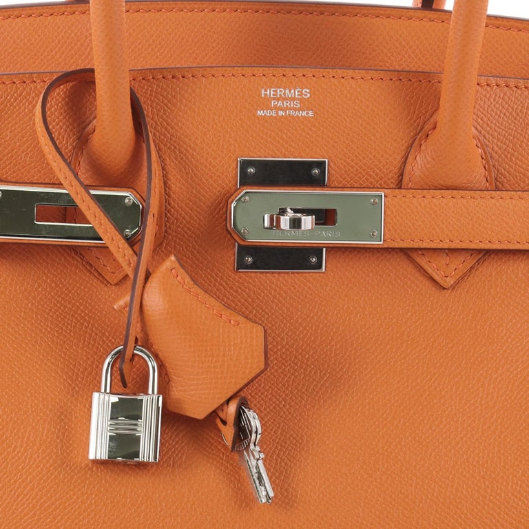 This Authentic Hermes Birkin Handbag Orange H Epsom With Palladium Hardware 30 For 3