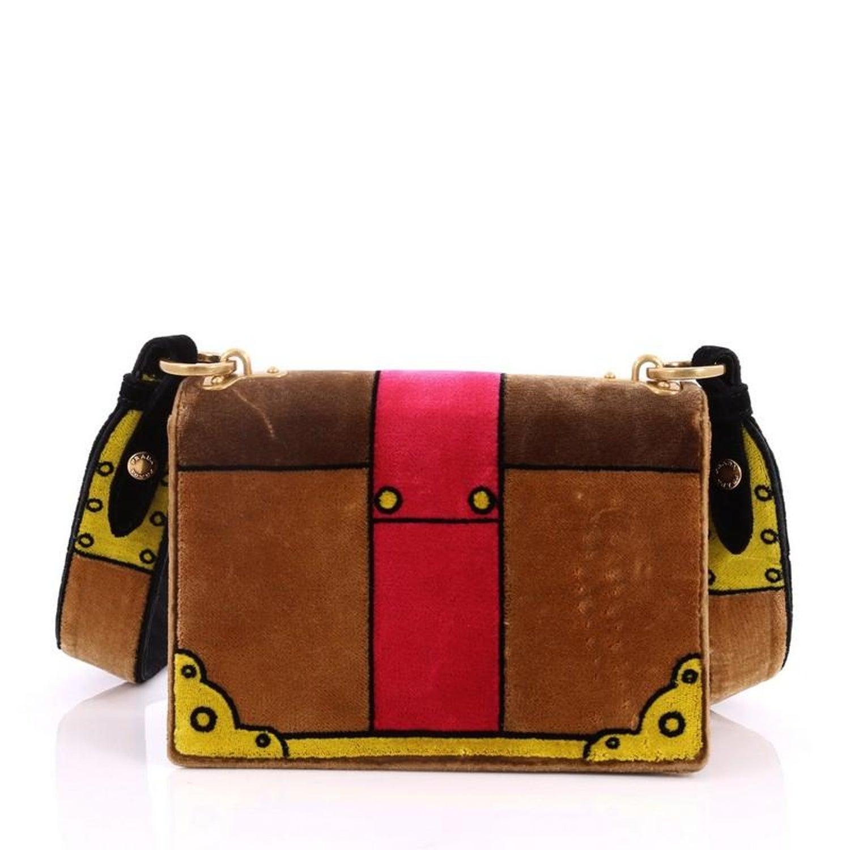 9da36efbe0 Prada Cahier Crossbody Bag Printed Velvet Small at 1stdibs
