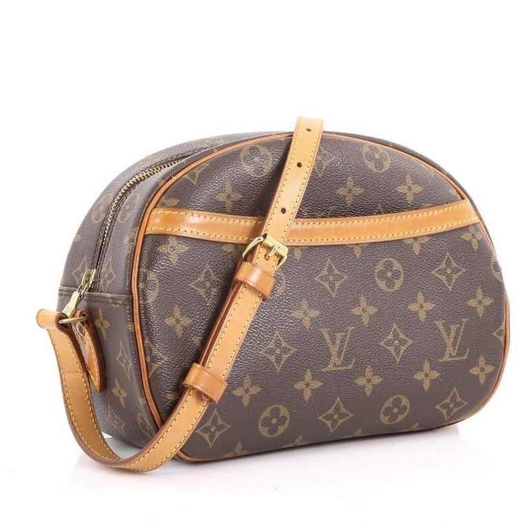 aa4171f24a20 Brown Louis Vuitton Blois Monogram Canvas Handbag For Sale