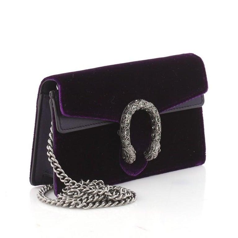 9f1828bf0319 Black Gucci Dionysus Handbag Velvet Super Mini For Sale