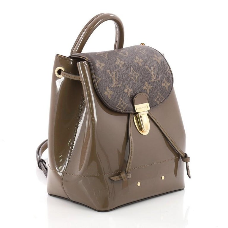 6378a190b50f Brown Louis Vuitton Hot Springs Backpack Vernis with Monogram Canvas For  Sale