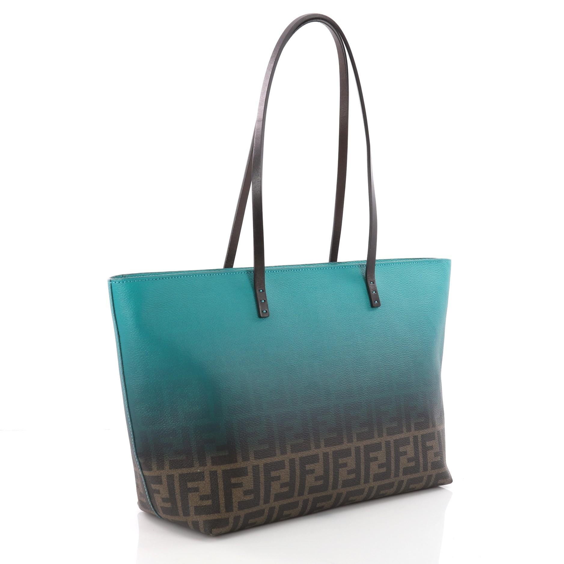ae1a50b7250b Fendi Roll Tote Ombre Zucca Coated Canvas Small at 1stdibs