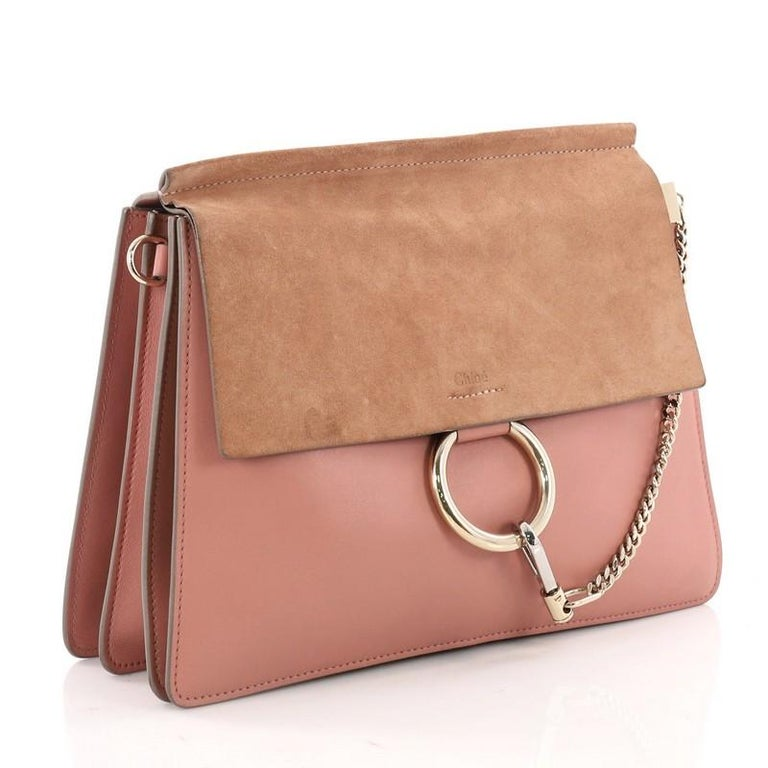 2651bd1ba0 Chloe Faye Shoulder Bag Leather and Suede Medium